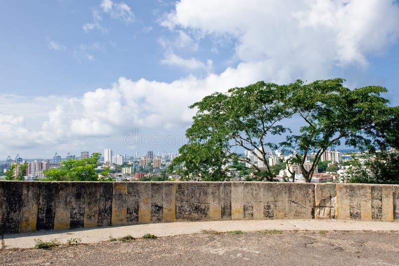 городской пейзаж cartagena стоковая фотография rf