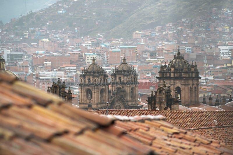 Городской пейзаж Cusco, Перу стоковое фото rf