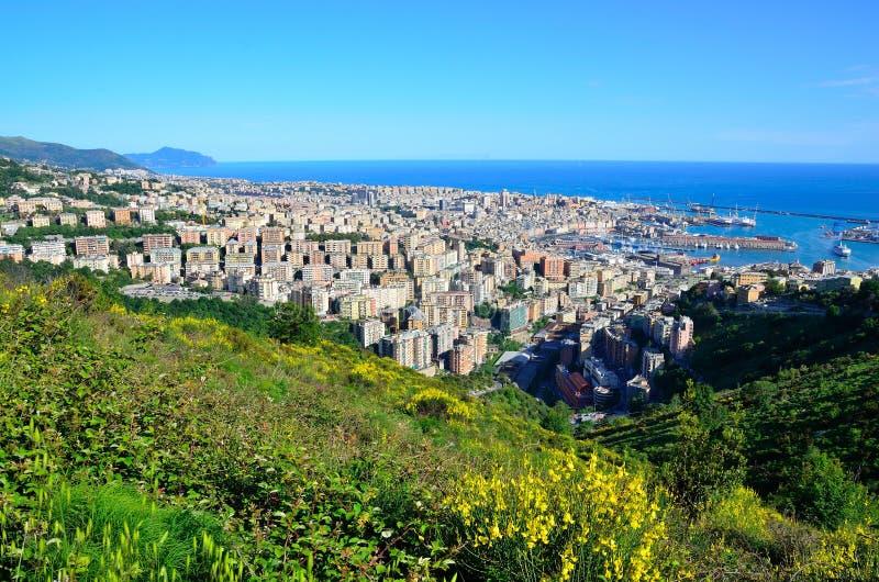 Городской пейзаж Genoa, Италии стоковое фото