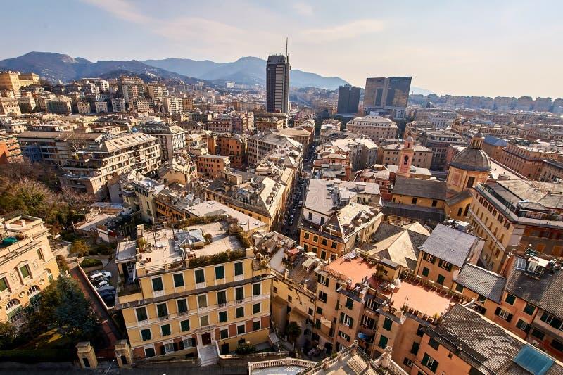 городской пейзаж genoa Италия стоковая фотография