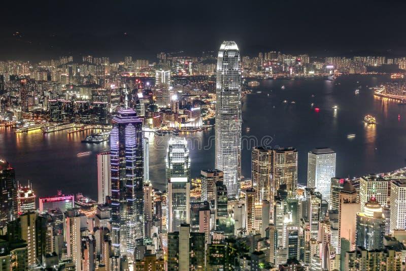 городской пейзаж Hong Kong стоковое фото rf
