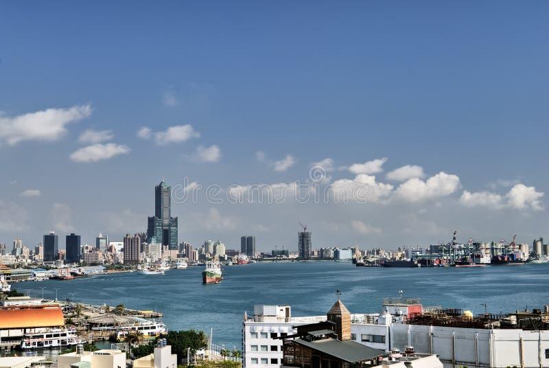 городской пейзаж kaohsiung стоковое фото