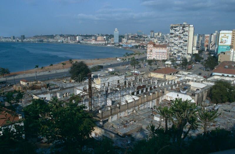 Городской пейзаж Luanda, Анголы стоковое фото