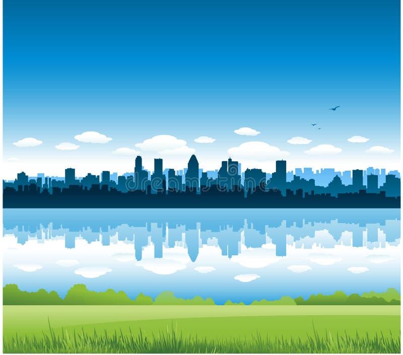 городской пейзаж montreal предпосылки бесплатная иллюстрация