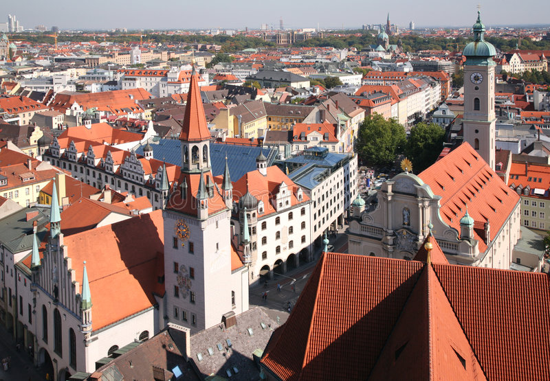 городской пейзаж munich стоковые фото