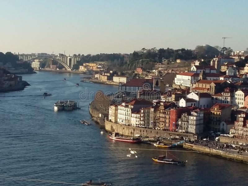 Городской пейзаж Oporto, Португалия стоковая фотография rf