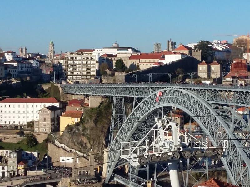 Городской пейзаж Oporto, Португалия стоковое фото