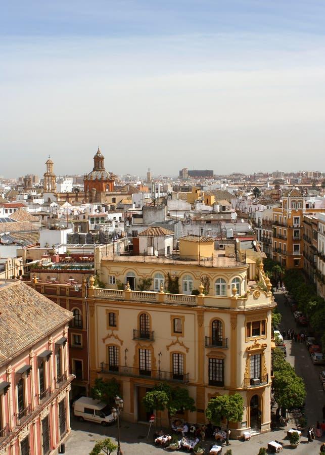городской пейзаж seville стоковые фотографии rf
