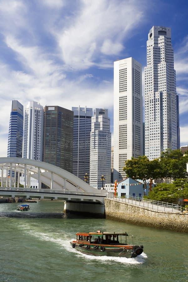 городской пейзаж singapore стоковое изображение rf