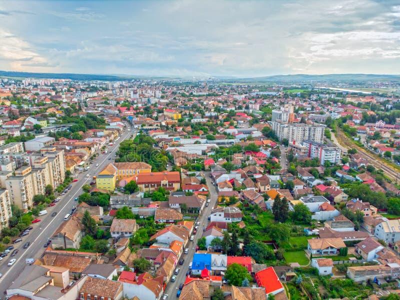 Городской пейзаж Targu Mures стоковая фотография rf