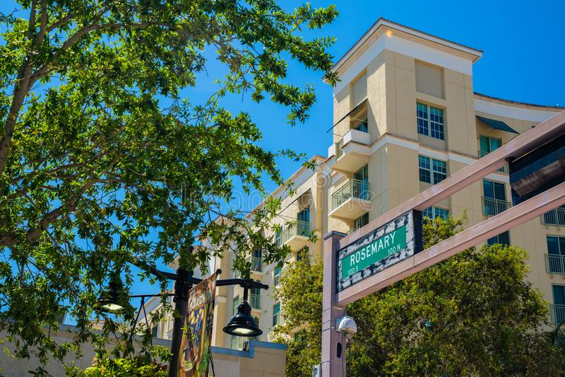 Городской городской пейзаж West Palm Beach стоковое фото