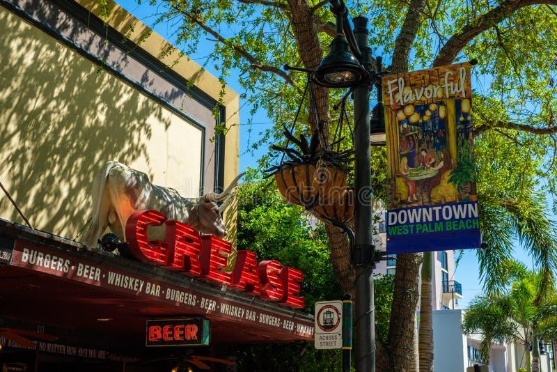 Городской городской пейзаж West Palm Beach стоковые фото