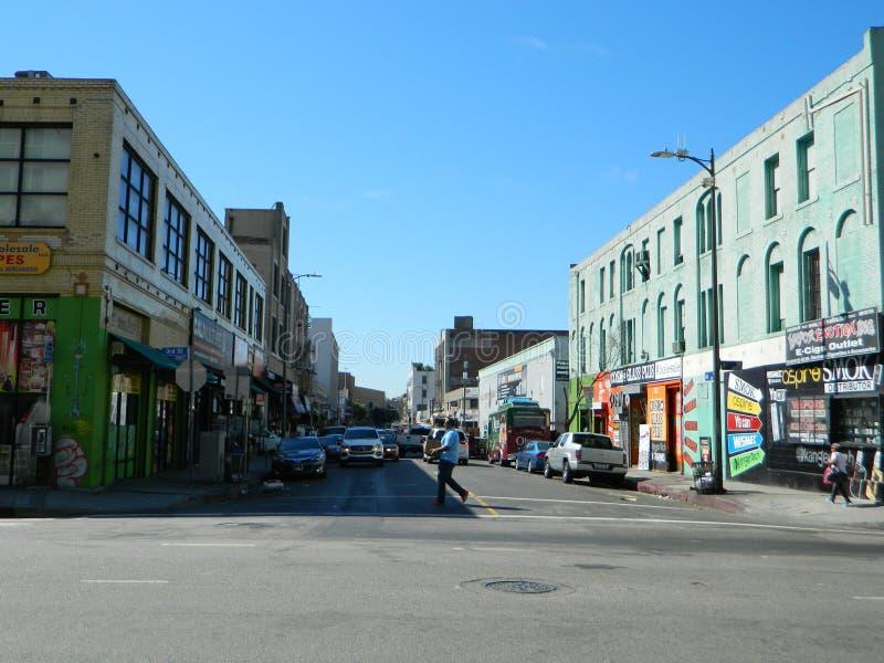 Городской район игрушки ЛА стоковое изображение rf