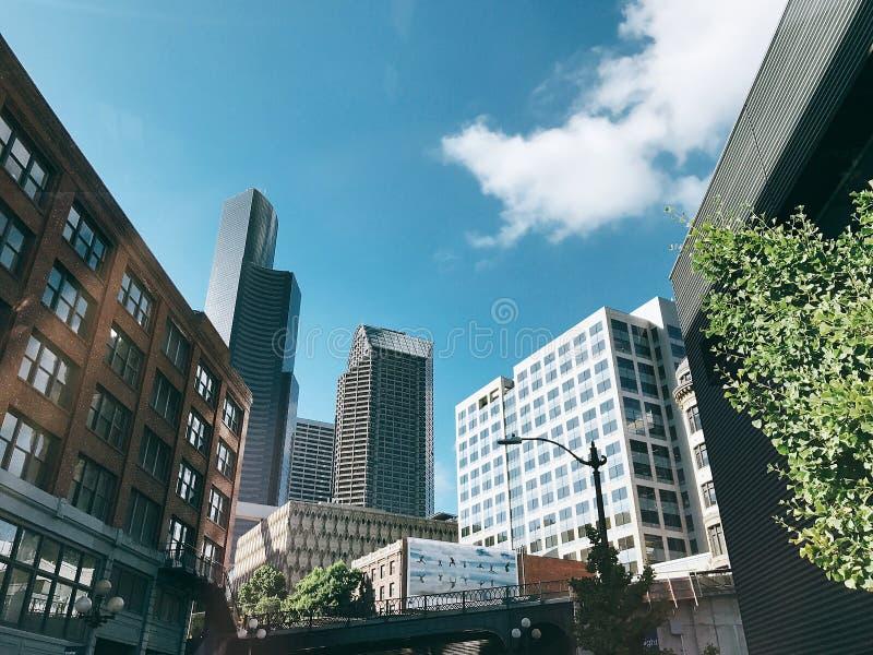 Городской Сиэтл стоковое фото rf