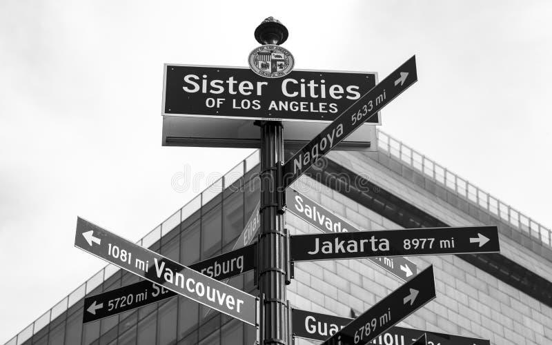 Городской финансовый район города Лос-Анджелеса стоковая фотография