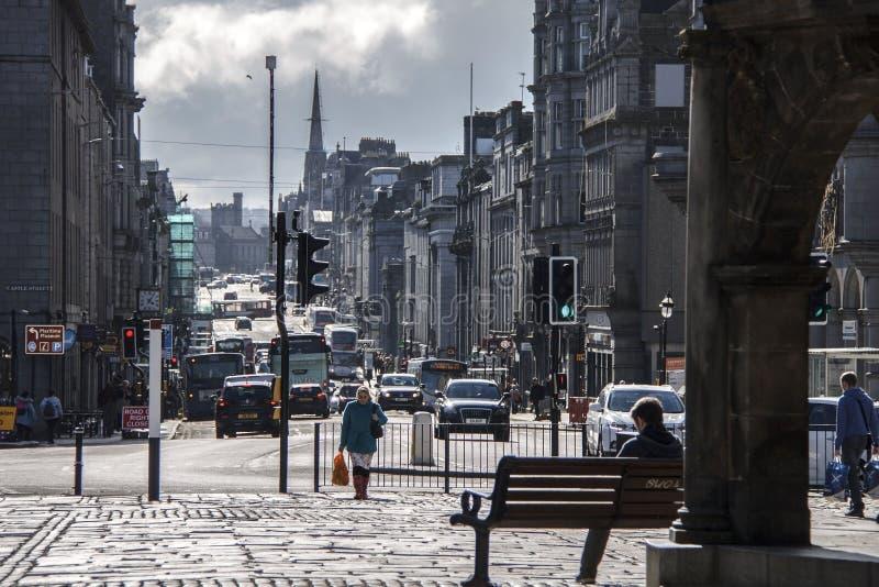 Город Абердина, Шотландия, Великобритания стоковые фотографии rf