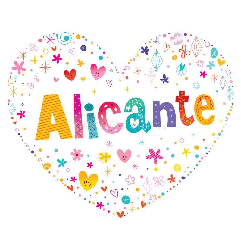 Город Аликанте в Испании иллюстрация штока
