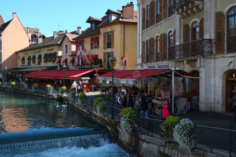 Город Анси, Франция стоковое изображение rf