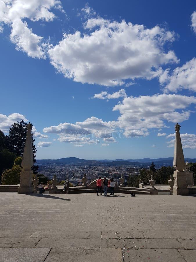 Город Браги, Португалия - красивое место стоковые фотографии rf