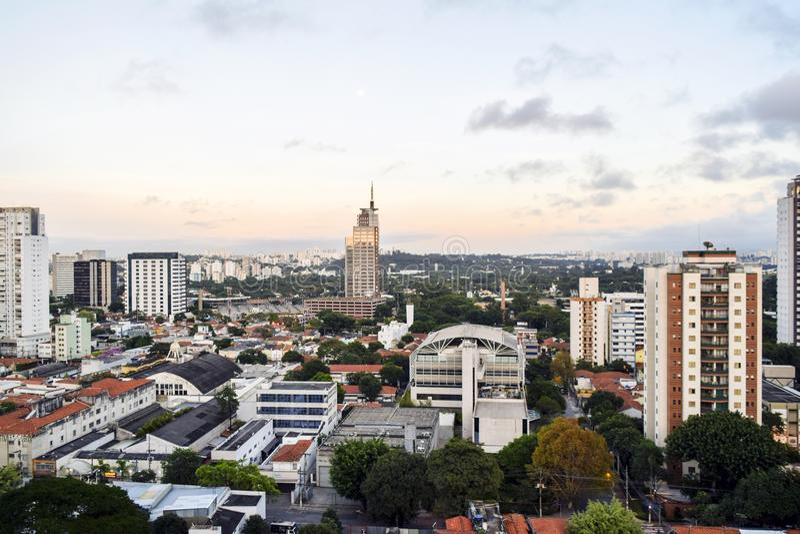 Город Бразилия Сан-Паулу стоковые изображения rf