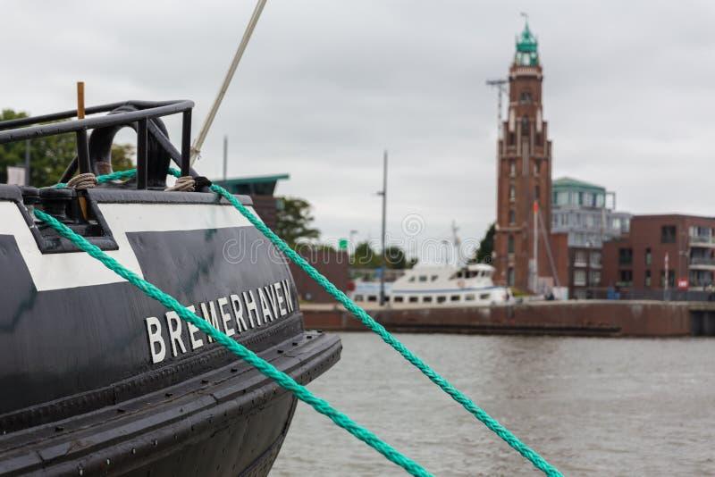Город Бремерхафена в Германии стоковая фотография rf