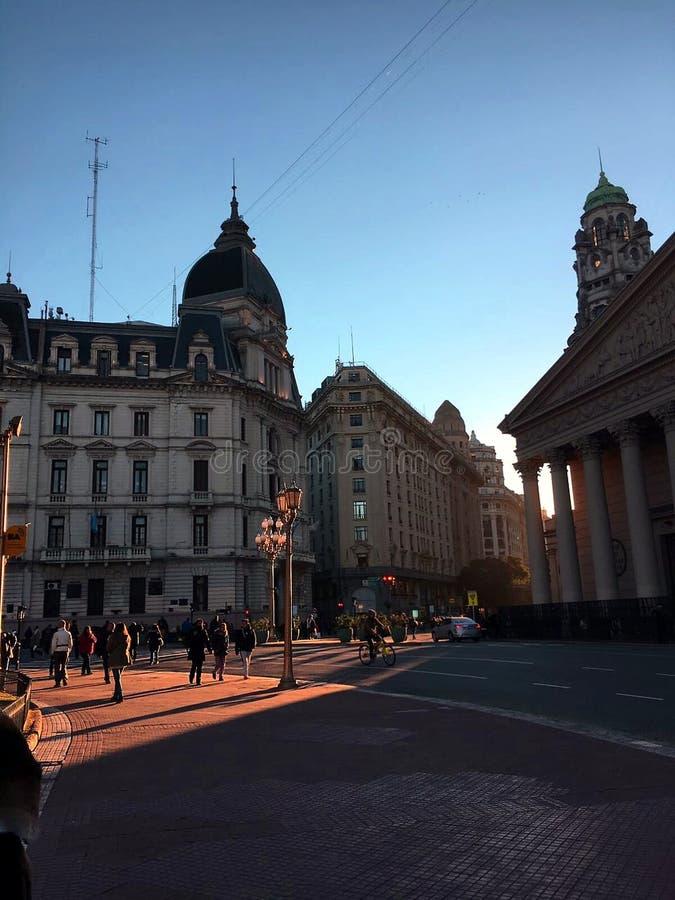 Город Буэноса-Айрес стоковая фотография rf