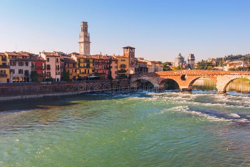 Город Вероны Италия стоковые фотографии rf