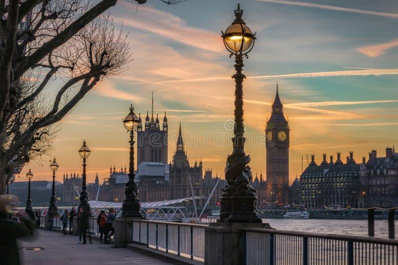 Город Вестминстера в Лондоне, Великобритании стоковые фотографии rf