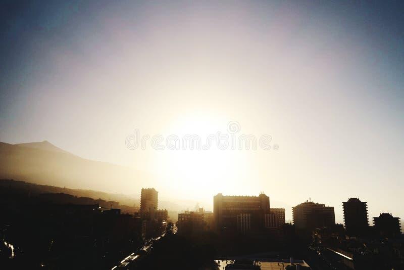 Город восхода солнца Тенерифе стоковые изображения rf