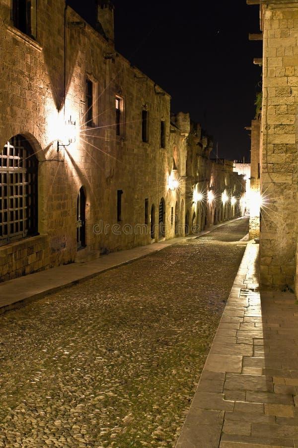 город Греция средневековый rhodes стоковое фото