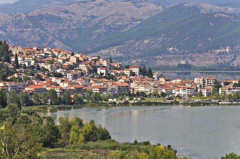 город Греция kastoria традиционный стоковая фотография rf