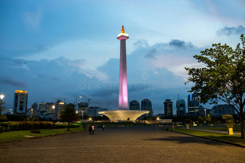 Город Джакарты, Индонезия стоковая фотография
