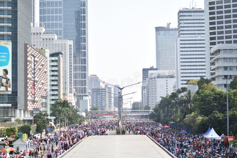 Город Джакарты стоковые фотографии rf