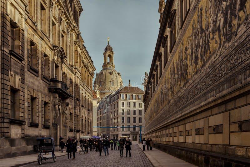 Город Дрездена Саксония Германия Центр старого города стоковое фото