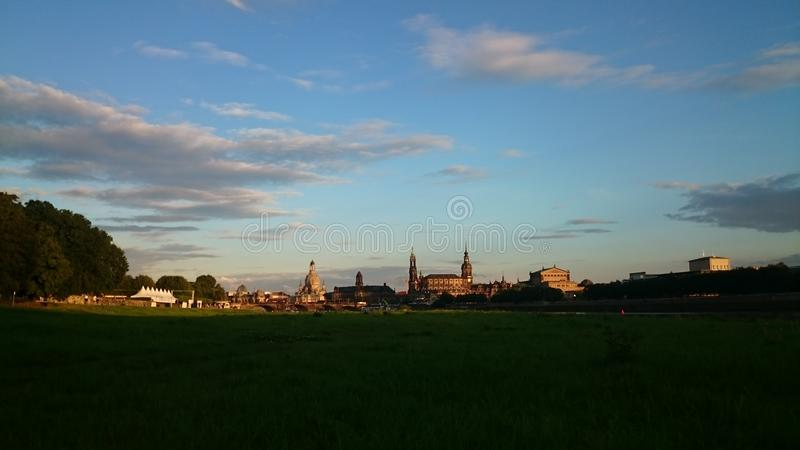 Город Дрездена стоковая фотография rf