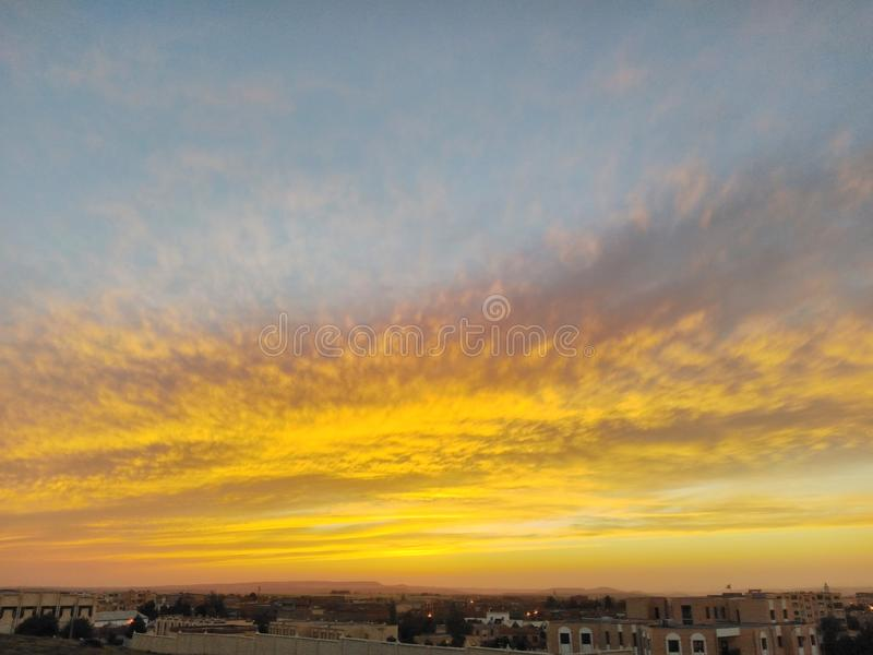 Город захода солнца стоковые фото