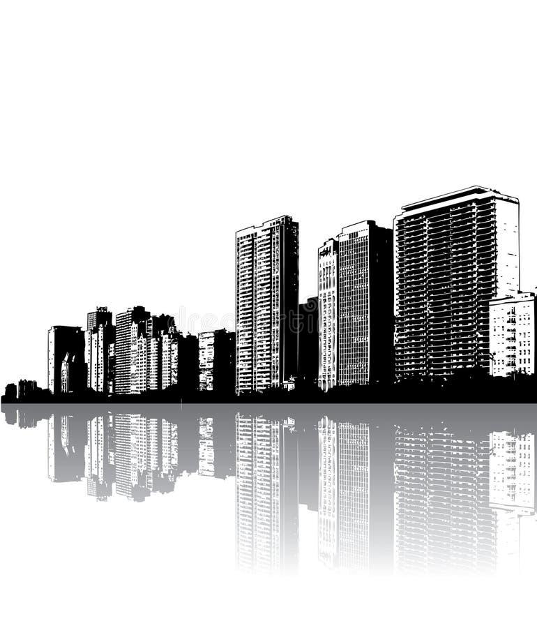город зданий самомоднейший иллюстрация вектора
