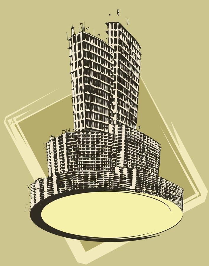 город знамени иллюстрация штока