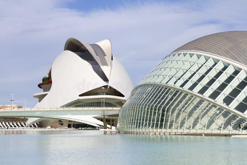 Город искусств и наук Валенсия стоковые фото