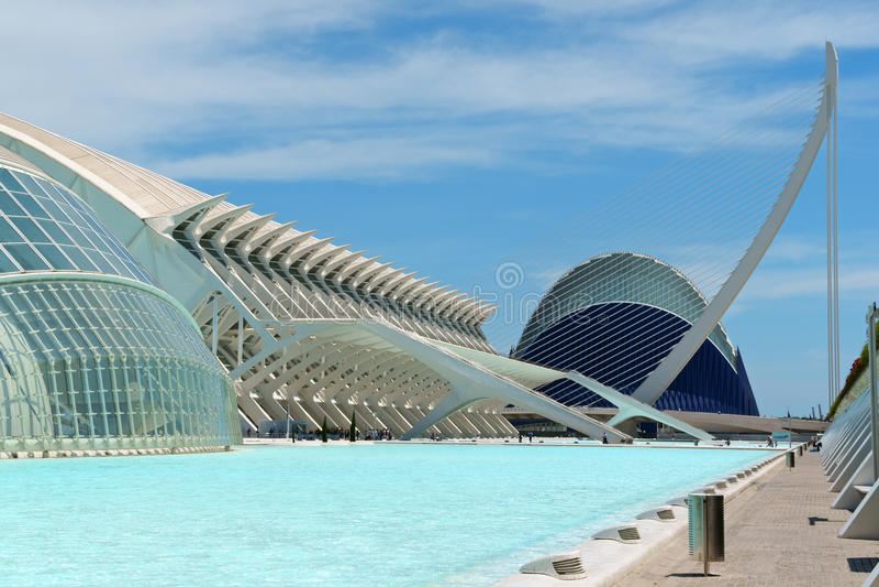 Город искусств и наук в Валенсии, Испании стоковая фотография