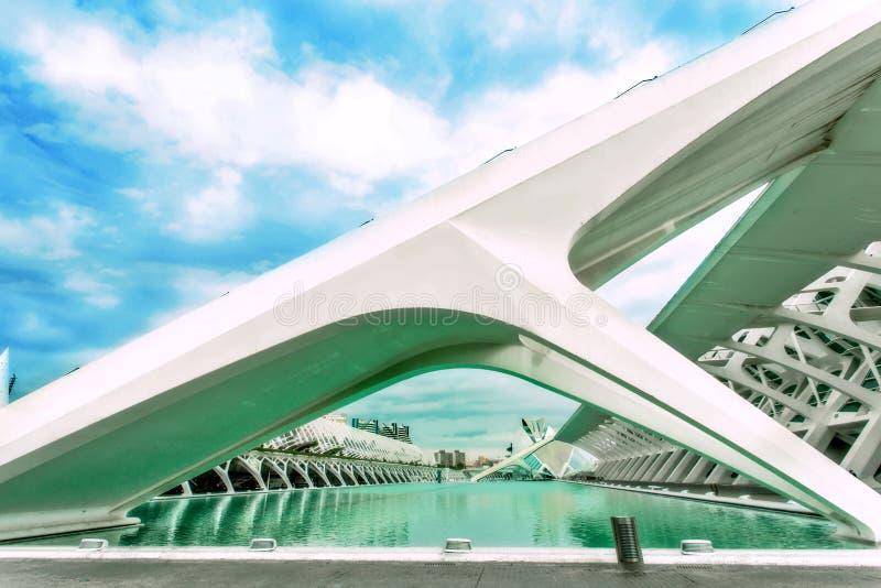 Город искусств & наук Валенсии Испании стоковые фотографии rf