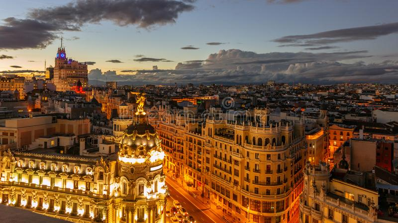 Город Испания Мадрида стоковое фото