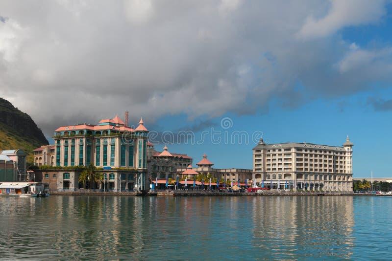 Город и обваловки порт louis Маврикия стоковые фотографии rf