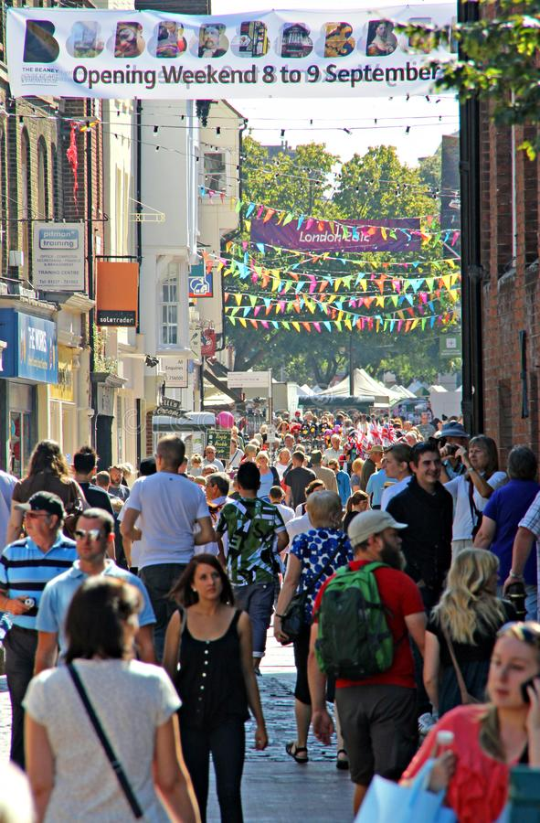 Город Кентербери культурных исторических и религиозных туристов туризма значительности стоковые фото