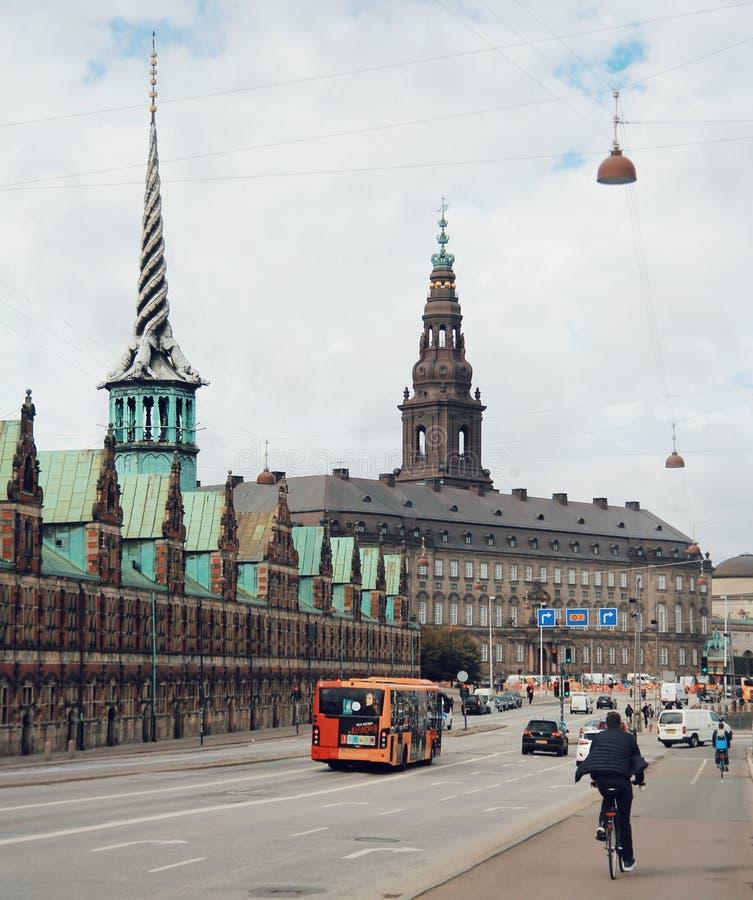 Город Копенгагена, центра города и уклада жизни людей стоковое фото rf