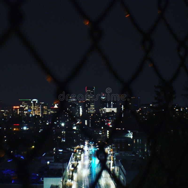 Город к ночь стоковое фото rf
