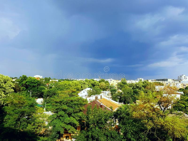 Город лета стоковое фото rf