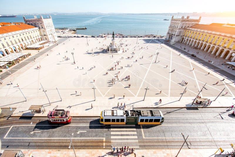 Город Лиссабона в Португалии стоковая фотография rf