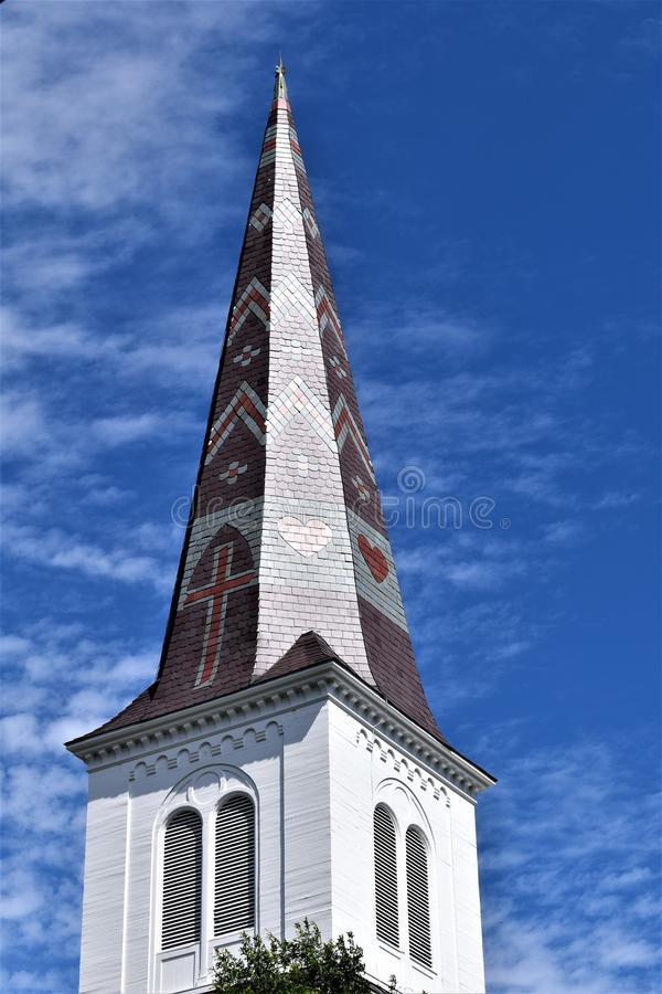 Город Монпелье, Washington County, Вермонт, Соединенные Штаты, столица государства стоковое фото rf