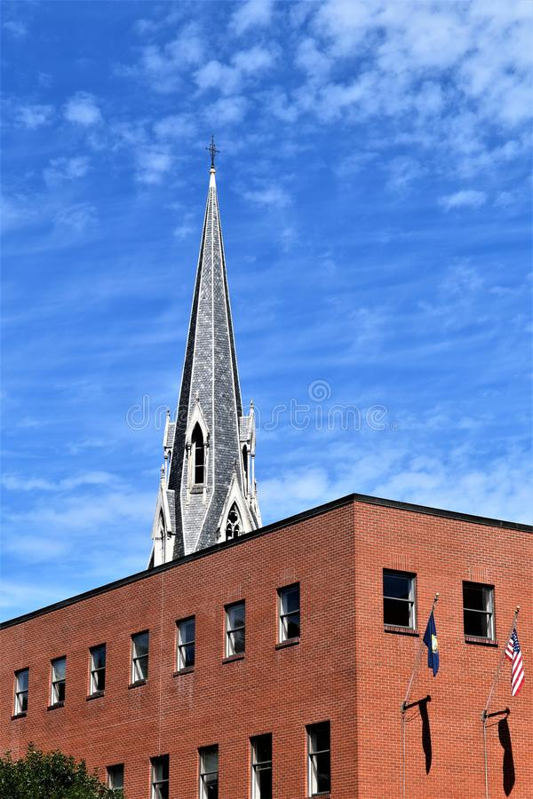 Город Монпелье, Washington County, Вермонт, Соединенные Штаты, столица государства стоковые фотографии rf